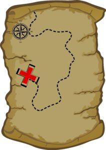 карта с кладом