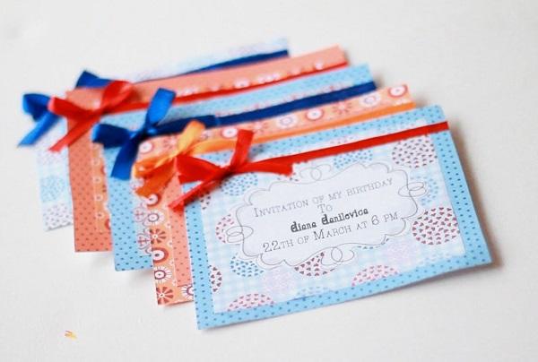 Золотые правила оформления приглашений на день рождения для девочек. DariSlona.ru