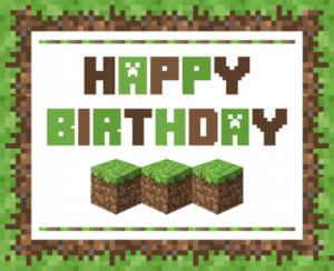 майнкрафт картинки с днем рождения