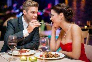 романтический ужин на 8 марта