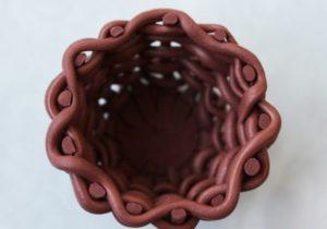 корзина из полимерной глины