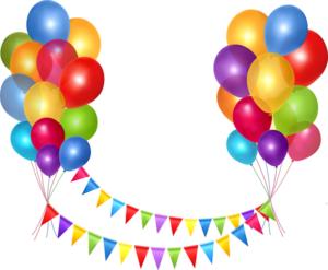 гирляднда из флажков и воздушные шары